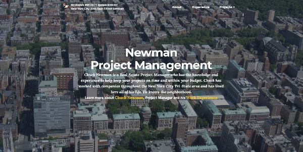 Website for Newman Project Management